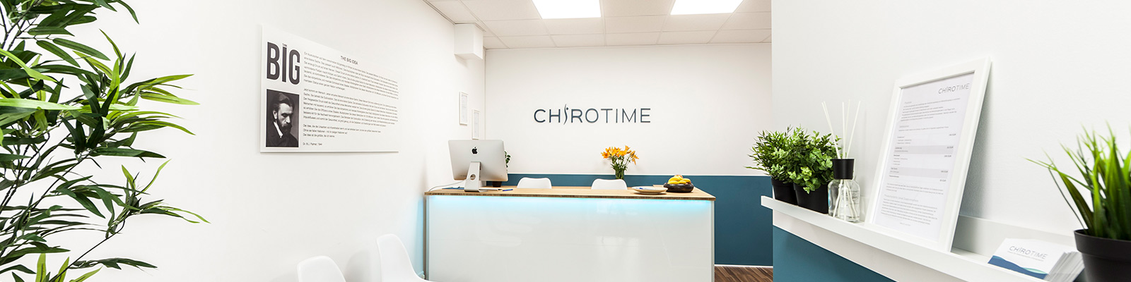 Chirotime Praxis Empfang